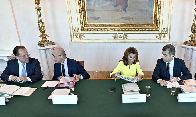 MINISTERRAT: SCHALLENBERG / JABLONER / BIERLEIN / PESCHORN / REICHHARDT