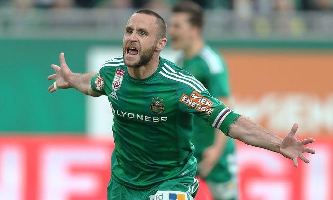Er ließ die grün-weißen Herzen höher schlagen: Steffen Hofmann erzielte für Rapid zwei Tore.
