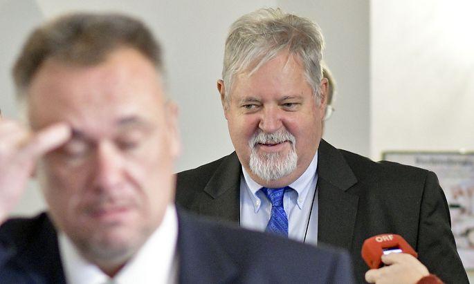 Peter Gridling, Chef des Verfassungsschutzes, Am Montag auf dem Weg zu seiner Befragung
