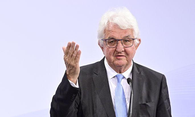 Nationalbankgouverneur, Robert Holzmann.