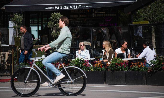 Cafés und Restaurants waren in Stockholm durchwegs geöffnet