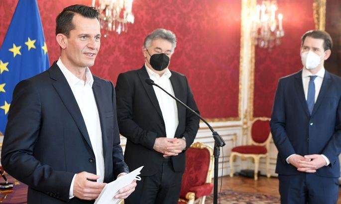 Wolfgang Mückstein (Grüne) bei seiner Angelobung zum Gesundheits- und Sozialminister am Montag.
