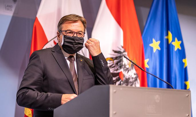 Tirols Landeshauptmann Günther Platter erklärt, mit den Maßnahmen einverstanden zu sein.