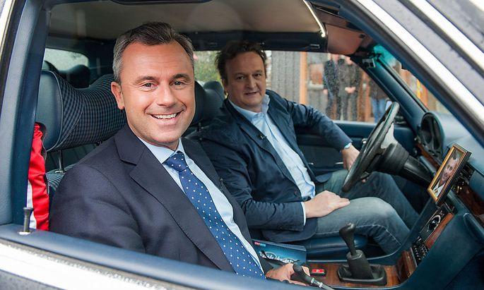 ORF-Wahlfahrt: Norbert Hofer, Hanno Settele