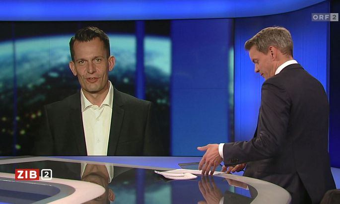 Wolfgang Mückstein (Grüne) bei Martin Thür.