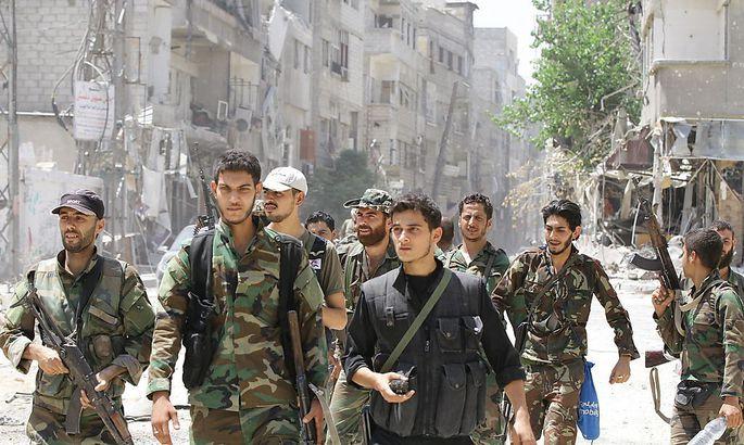 Syrische Truppen.