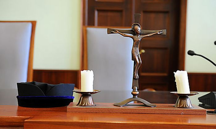 Gericht, Rechtsprechung, Justiz, Gerichtssaal, Landesgericht Wr. Neustadt Foto: Clemens Fabry