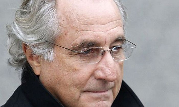 File photo of Bernard Madoff exiting the Manhattan federal court house in New York