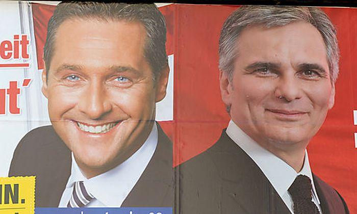 Wahlkampf 08, Faymann, Strache Foto: Clemens Fabry