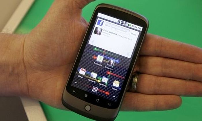 The Nexus One phone from Google Inc. is shown at a demo in Mountain View, Calif., Tuesday, Jan. 5, 20