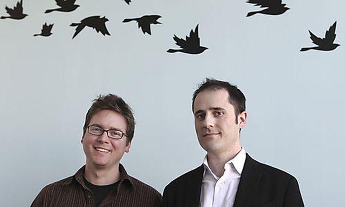Twitter-Gründer Biz Stone (links) und Evan Walker