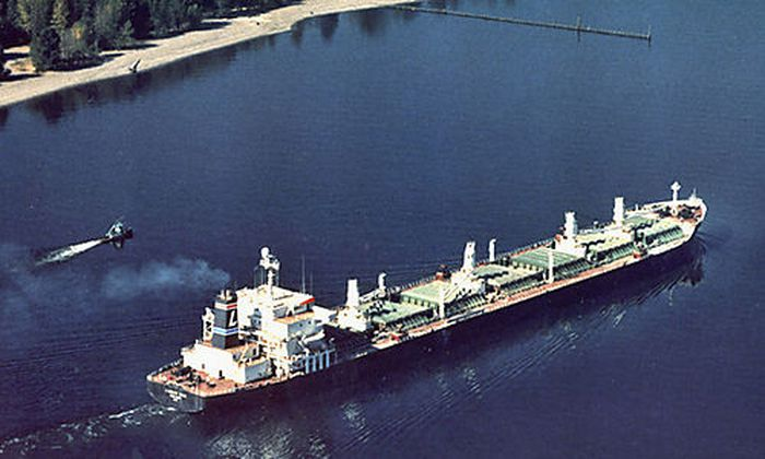 Der Frachter ''Liberty Sun'' entkam nur knapp einem Angriff.