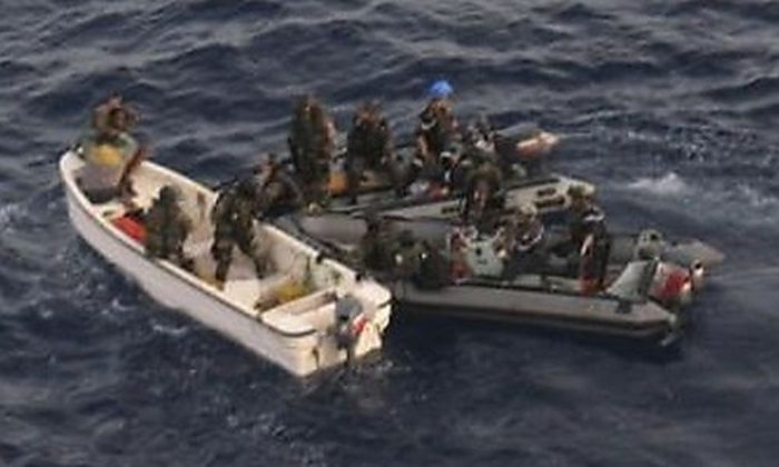 Forces from Frances ship Nivose intercept Somali pirates in the Indian Oceans ship Nivose intercept Somali pirates in the Indian Ocean