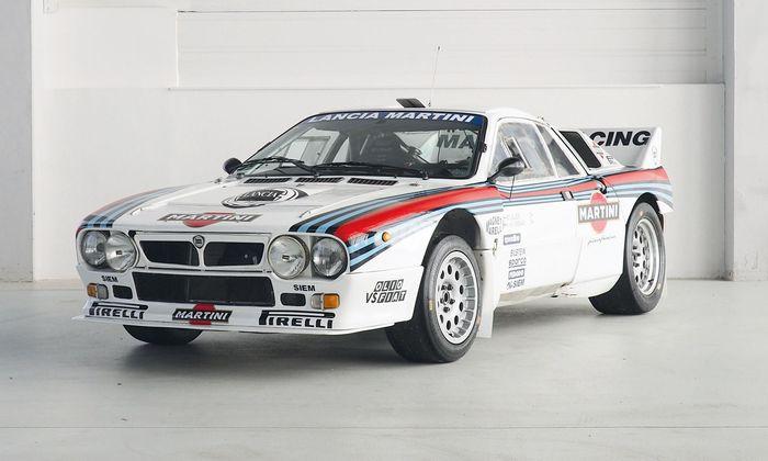 Einen mussten wir ja aus dem Katalog wählen: Lancia 037, Schätzwert zwischen 370.000 und 510.000 Euro.