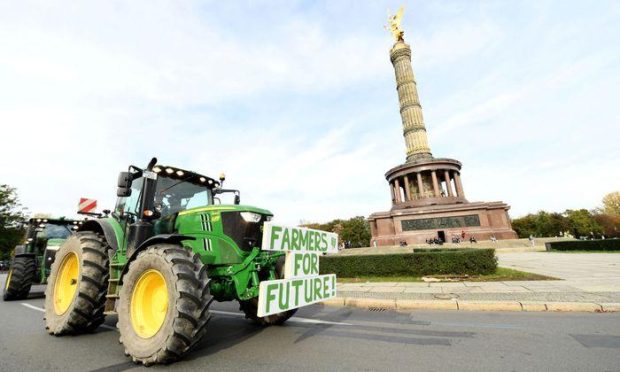 Bauernaufstand in Berlin: zu wenig zum Leben trotz hoher Subventionen.