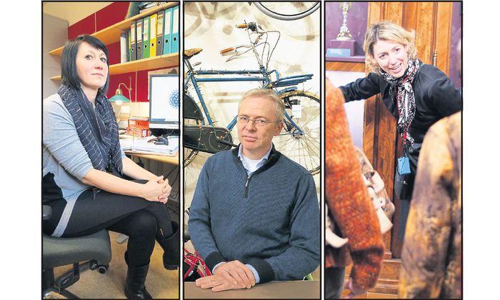Von der fragwürdigen Gnade, sich mangels anderer selbst ausbeuten zu dürfen: Silvia Ulrich, Mikko Stout, Bibiane Krapfenbauer.