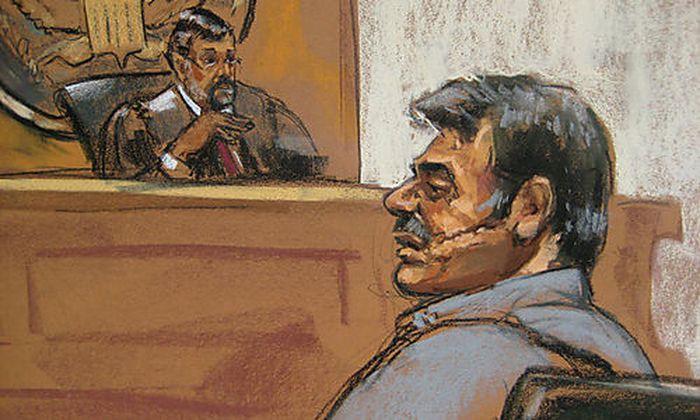 Courtroom sketch of Manssor Arbabsiar