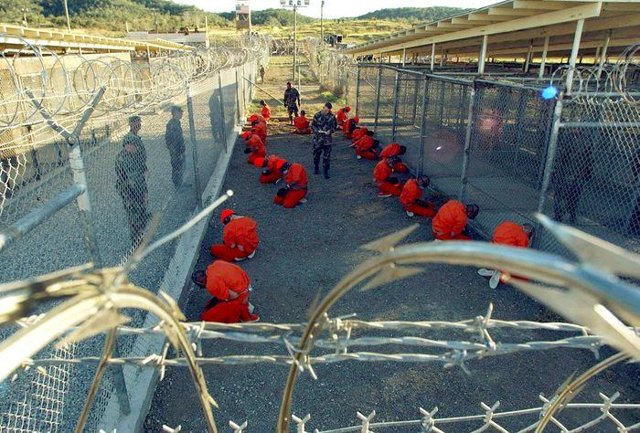 Das Lager Guantánamo im Jahr 2002.