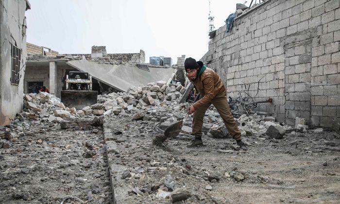 Trümmerlandschaft in der syrischen Provinz Idlib