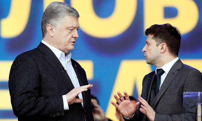 Streitgespräch zwischen Poroschenko und Selenskij