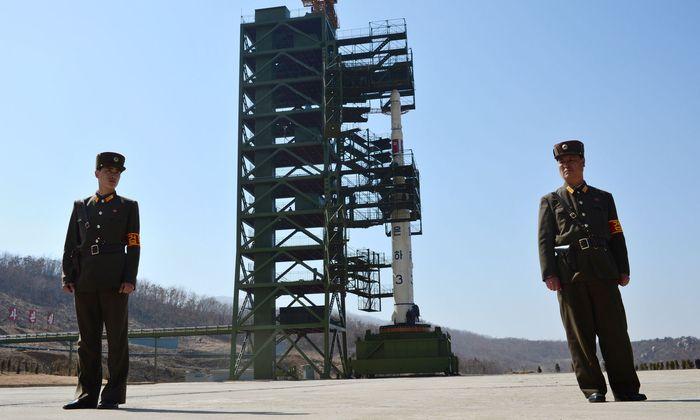 Die Raketenstartrampe in der Anlage von Tongchang- ri an der Westküste Nordkoreas. Jüngst entdeckte Bautätigkeiten sorgen für Nervosität.