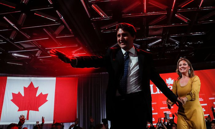Ein Tag der Freude für den kanadischen Premiereminister Justin Trudeau.