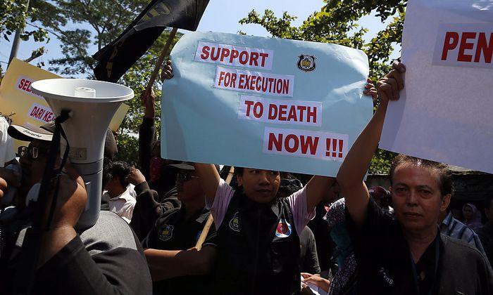 Die Todesstrafe ist in Indonesien eher unumstritten. Doch wenn es eigene Bürger im Ausland betrifft, wird Indonesien aktiv.