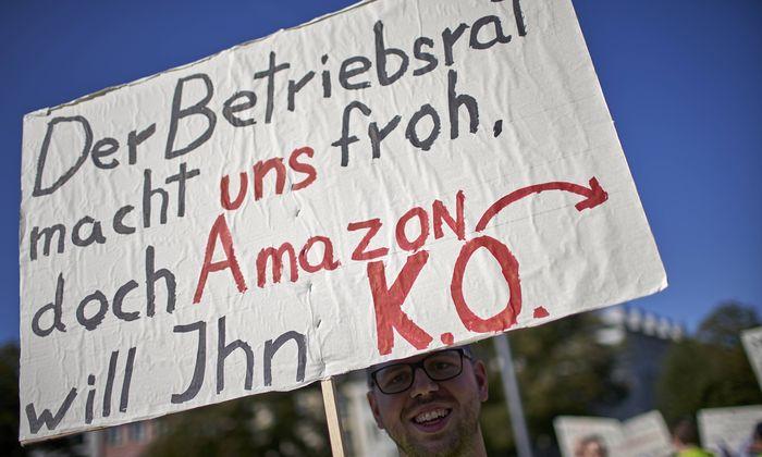 News Bilder des Tages Streik bei Amazon 20 09 2018 Rheinland Pfalz Koblenz Besch�ftigte des Amaz