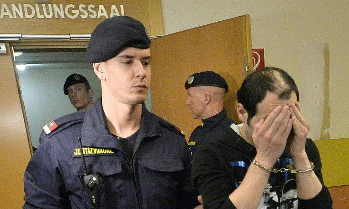 Einer der Angeklagten am 21. Februar.