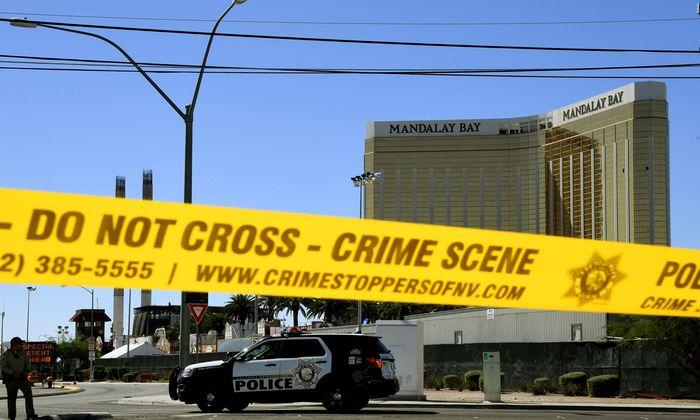 Abgeriegelt: das Mandalay Bay Hotel in Las Vegas, von dessen 32. Stock Stephen Paddock das Feuer eröffnete.