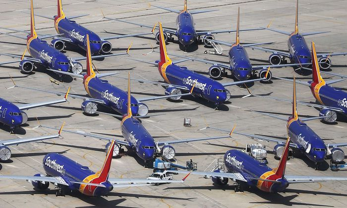 US-SOUTHWEST-PARKS-GROUNDED-BOEING-737-MAX-PLANES-AT-REMOTE-CALI