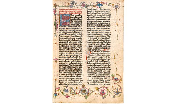 Gutenberg-Bibel: Das Exemplar der Nationalbibliothek ist noch bis morgen, 1. Juli 2018, zu sehen.