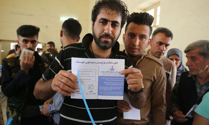 Viele Bewohner der kurdischen Region im Irak stimmten wohl für die Unabhängigkeit.