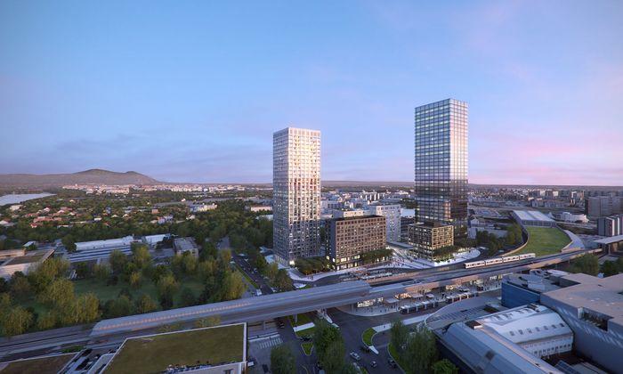 """Das """"Vienna Twenty Two"""" im 22. Bezirk: In dem Großprojekt werden ab 2022 größere Büroflächen auf den Markt kommen."""
