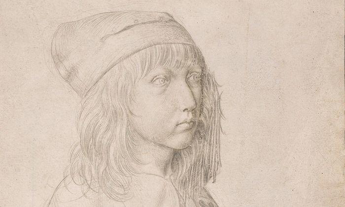 Albrecht Dürer, Selbstbildnis als Dreizehnjähriger, 1484, Silberstift.