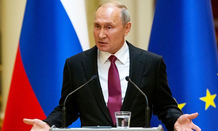 Russlands Präsident Wladimir Putin in Helsinki