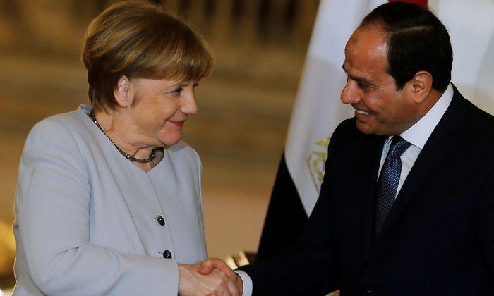 Merkel und Präsident al-Sisi.