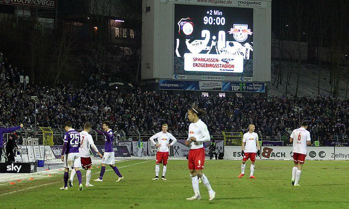 SOCCER - 2.DFL, Aue vs RB Leipzig