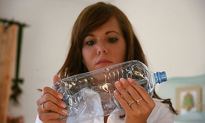 Plastikflasche Glasflasche Recycling
