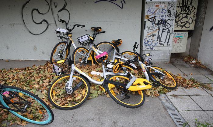 Obikes, Ofos, Donkey Republic: Knapp 1000 Leihräder wurden in wenigen Wochen über Wien verteilt. Ein Boom außer Kontrolle.