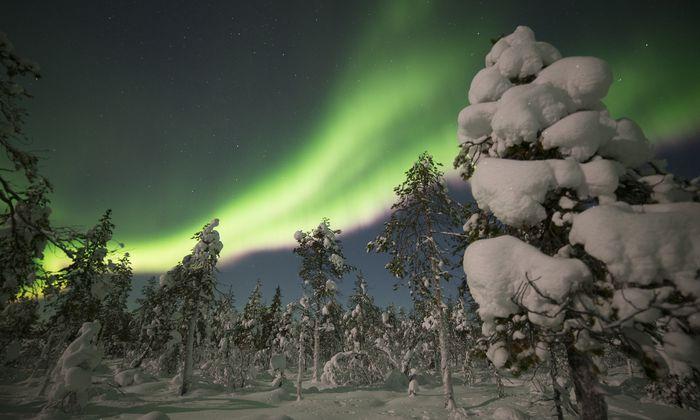 Erhabenes Ereignis: Aurora Borealis.