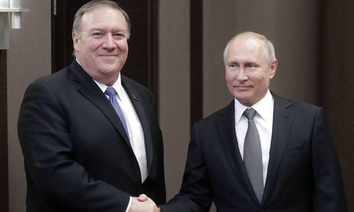 Pompeo und Putin in Sotschi