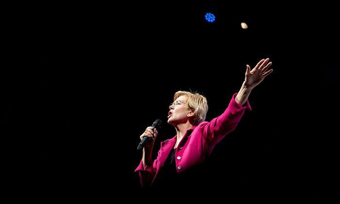 Elizabeth Warren will US-Präsidentin werden, sie wird eher dem linken Parteiflügel der Demokraten zugerechnet.
