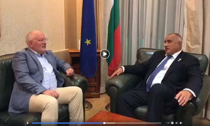 Frans Timmermans traf Boyko Borissow zu einem Gespräch, das die Probleme und Defizite der EU-Personaldebatte aufzeigt.
