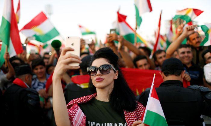 Jubel in der Hauptstadt Erbil. Die Kurdenregion im Nordirak stimmte für eine Unabhängigkeit.