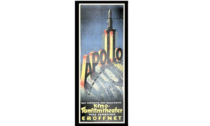 Plakat für das Apollo-Kino, 1929.