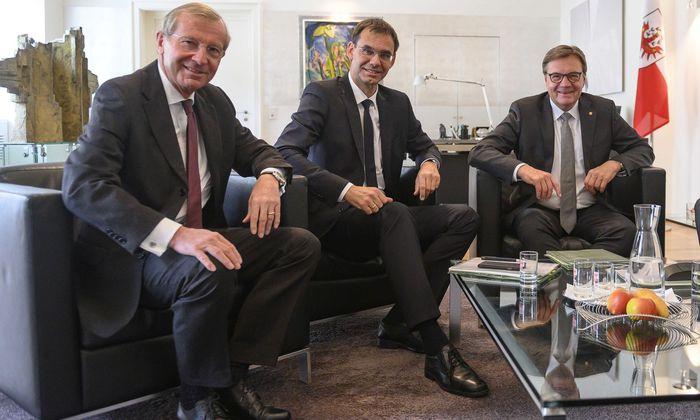 Günther Platter, Markus Wallner und Wilfried Haslauer.