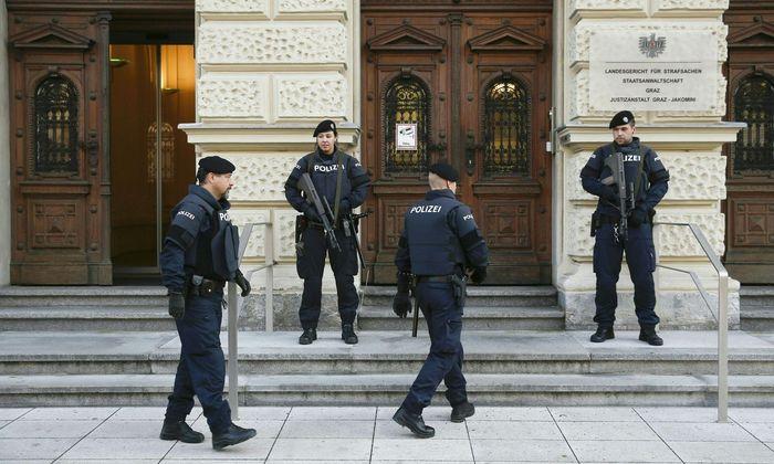 Wird erneut streng bewacht: Landesgericht Graz (Bild: Terrorprozess, 2016).