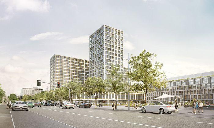 Visualisierung des Hochhaus-Projekts am Heumarkt