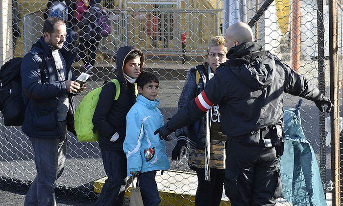 Szene am Grenzübergang Spielfeld im heurigen Februar